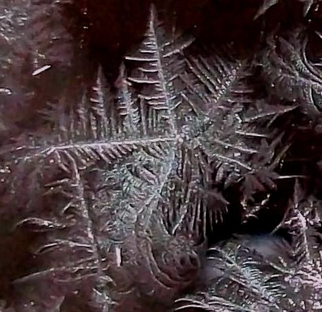 Frost Water Crystal on Mercury