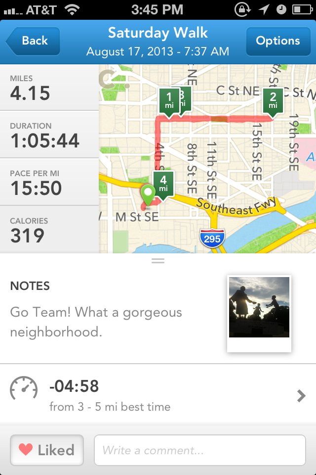 today's runkeeper screenshot with my 15:50 time
